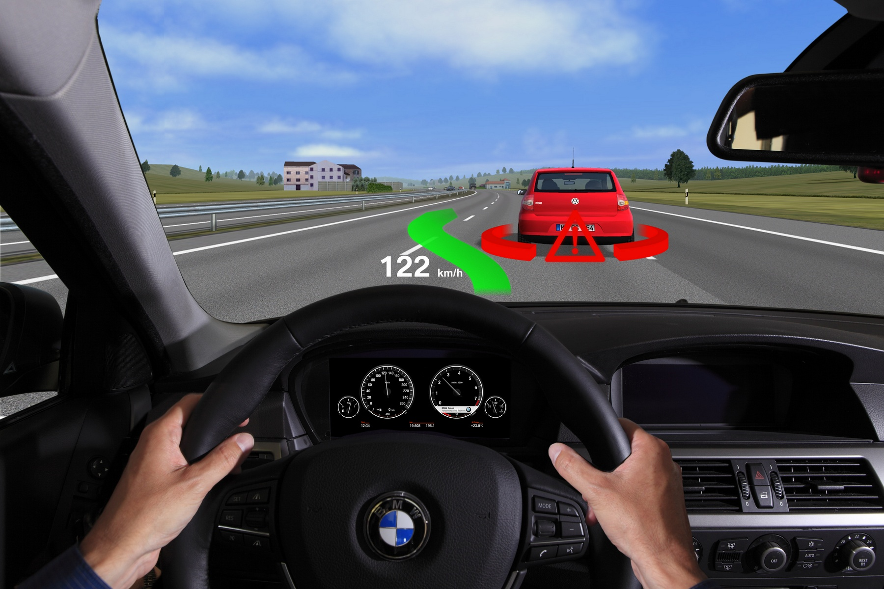 Augmented reality – HUD (BMW)
