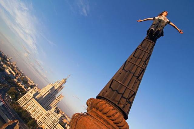 Cățărători urbani în Moscova